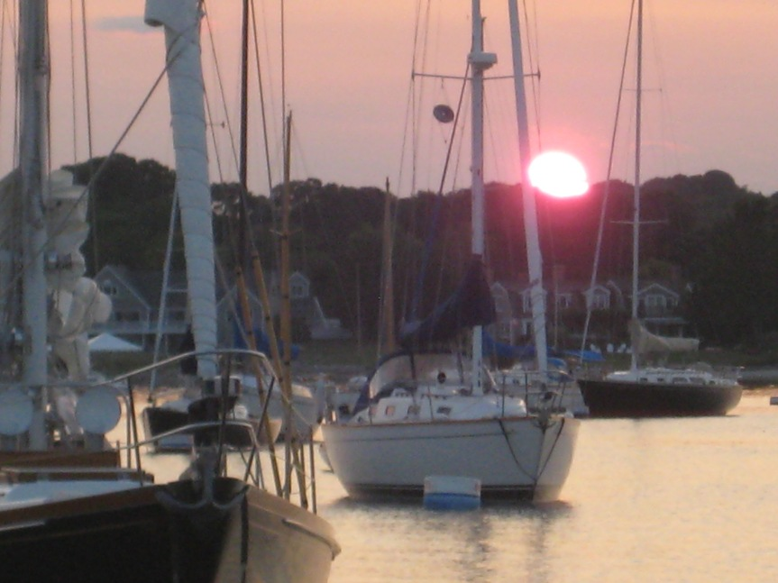 Sunset at Dodson's Boatyard, Stonington, CT