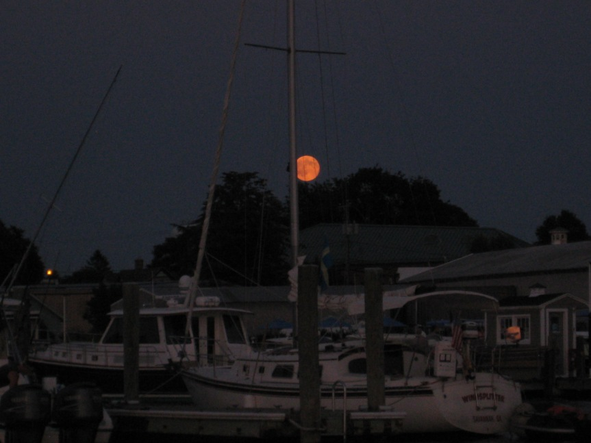 Full moon, Stonington, CT
