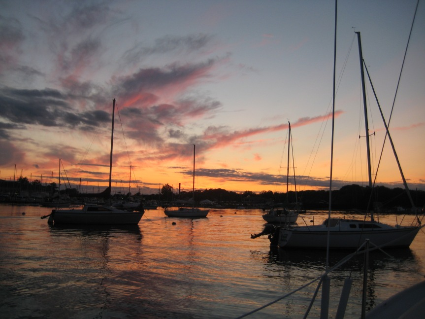 Sunset at Pine Island Marina.