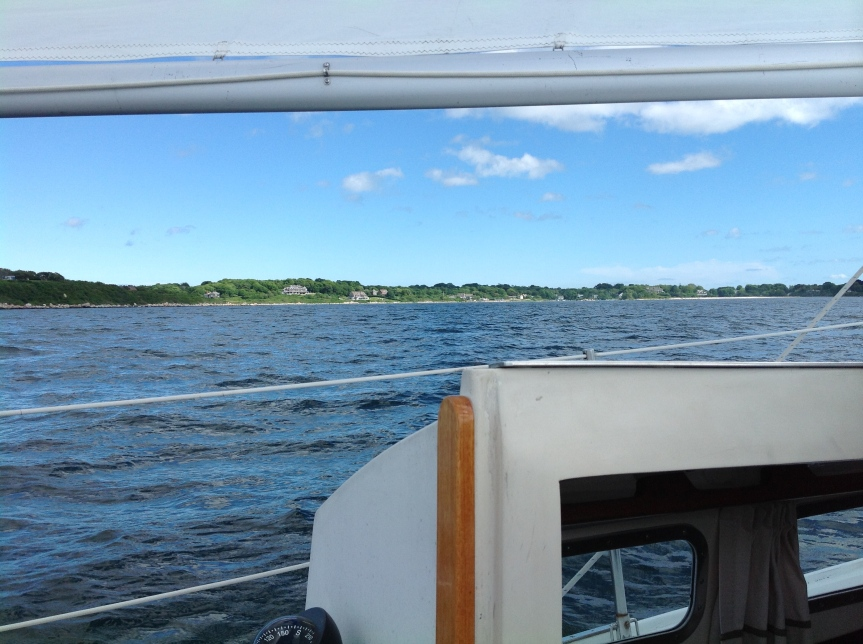 Sailing off Fishers Island.
