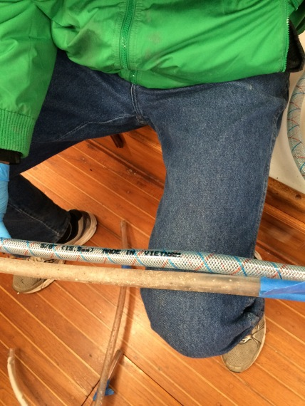 Can you tell which one is the old, gross water hose?