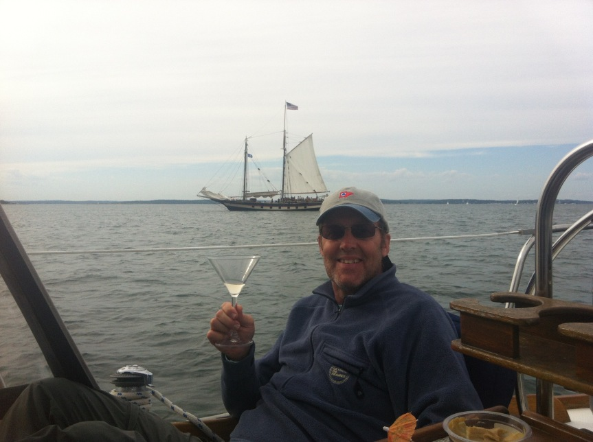 Fourth of July weekend: watching our first dragging boat – but fortunately notours!